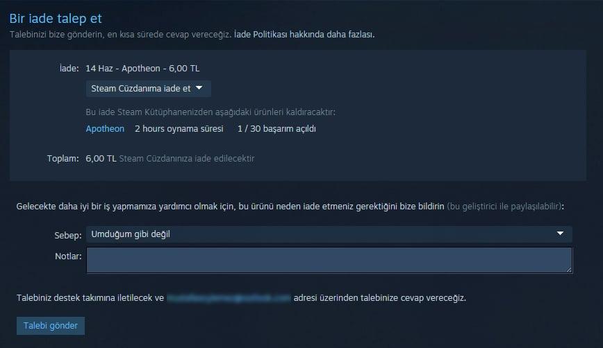 Steam Oyun İadesi Nasıl Yapılır