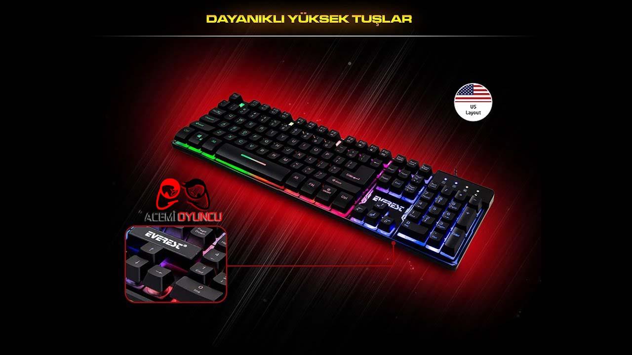 Everest KB-GX9 Oyuncu Klavyesi | Gaming Klavye